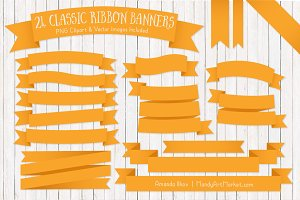 Sunshine Ribbon Banner Clipart