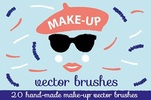 Make-up Illustrator Brushes Pack