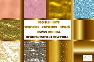 Metallic Foils Textures Glitter Kit