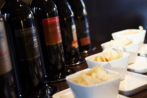 Wine Cheese and Chips Tasting