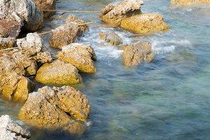 Rocks on the beach.