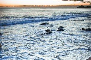 Ocean Rock Pools At Low Tide