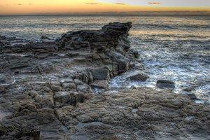 Ocean Rock Pools At Sunset
