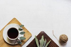 Greenery with Journal Flatlay