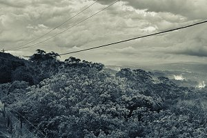 Mountain Top Winding Road Panorama