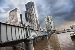 Melbourne Bridge And Yarra River