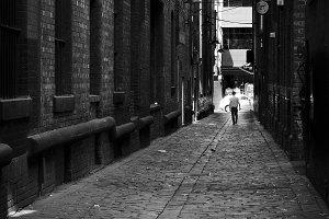 Monochrome Vintage Laneway Melbourne