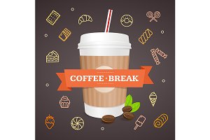Cup Coffee Break Concept