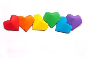hearts, a symbol of LGBT