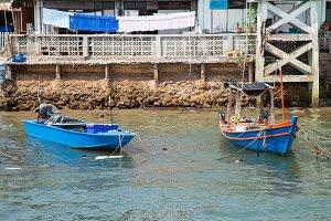 Small fishing boat.