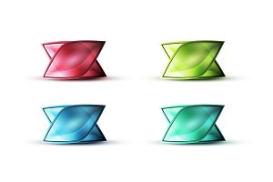 Realistic matte glass abstract icon for message