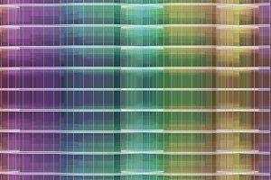 colorful glass facade