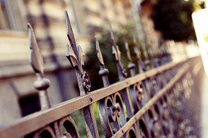 Decorative Iron Fence Post