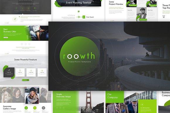 roowth modern presentation presentation templates creative market