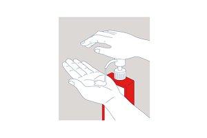 Hand Sanitizer Monoline