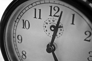 Close Up of Retro Alarm Clock