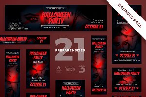 Banners Pack | Halloween Party