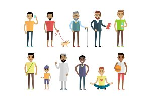 Big Set of People Characters Vectors in Flat Style