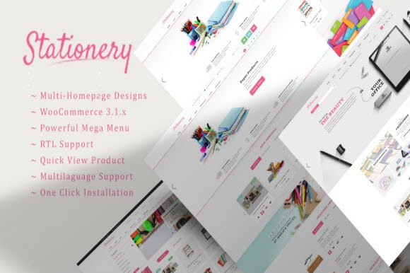 Stationery WooCommerce Theme WordPress Commerce Themes Creative
