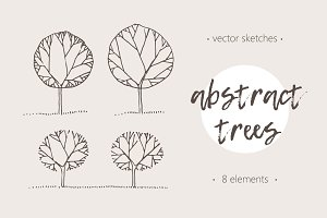 Illustrations of abstract trees