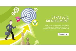 Strategic Management Concept Vector Illustration