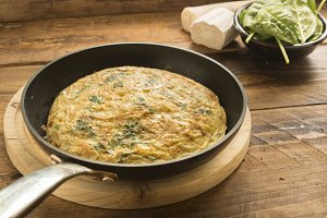 Omelette spinach