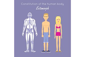 Constitution of Human Body. Ectomorph. Ectomorphic