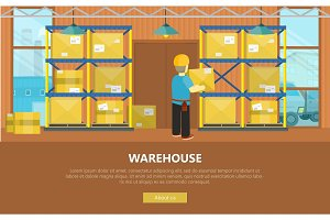 Warehouse Interior Banner