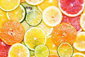 Winter citrus fruits.