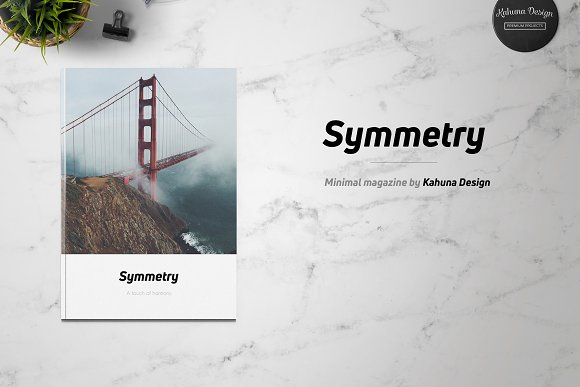 Symmetry Minimal Magazine-Graphicriver中文最全的素材分享平台