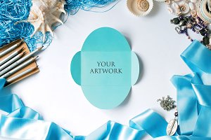 Blue Invitation Top View 10111
