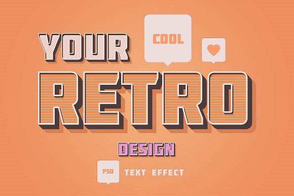 Retro Photoshop Text Effect