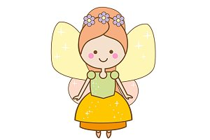 Cute kawaii fairy