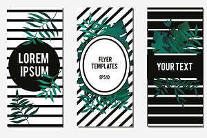 Tropic flyer cover templates. eps10