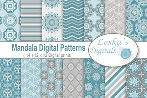 Mandala Digital Paper Patterns