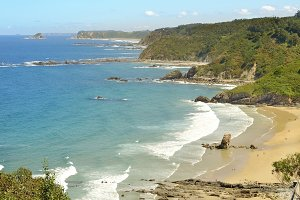 Aguilar Beach at sunny day.