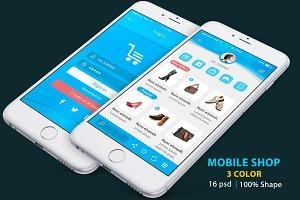 Mobile Creative Shop UI kit