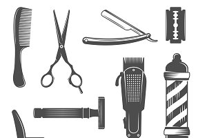 Barber Icon Set