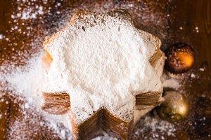 Pandoro italian christmas cake.
