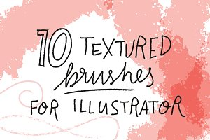 10 textured brushes for Illustrator
