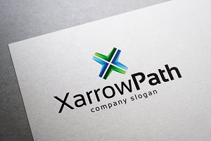 X Arrow Path Logo
