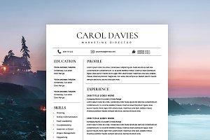 Modern Resume Template, Cover Letter