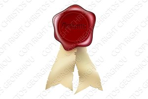 Authentic Wax Seal and ribbon