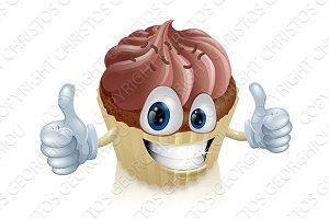 Chocolate cupcake mascot