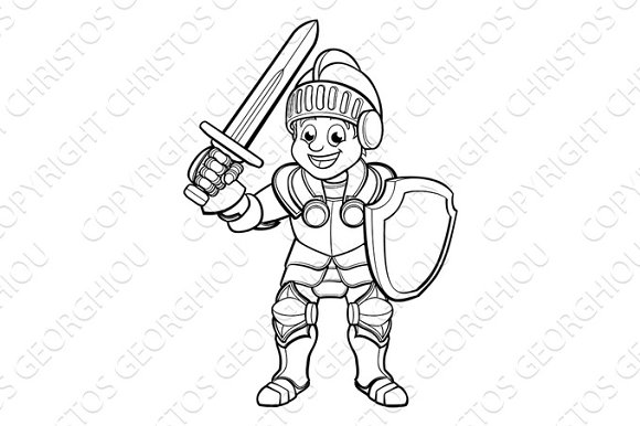 Knight Cartoon Character