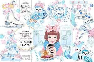 WINTER DAYS clipart