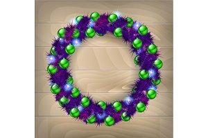 Set Christmas wreaths