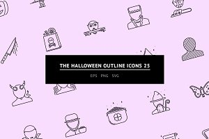 The Halloween Outline Icons 25
