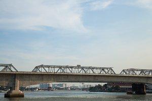 Railway bridge across the river.