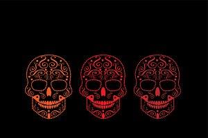 Happy Halloween skulls